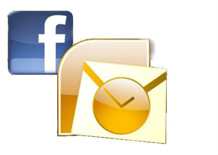 outlook facebook