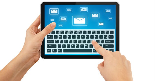 email-on-tablet