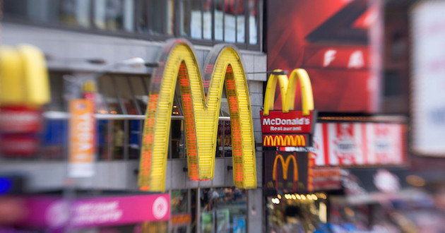 McDonalds sign in times square
